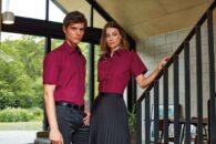 Vyriški moteriški marškiniai trumpomis rankovėmis