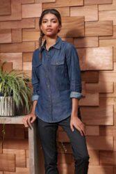 Moteriški džinsniai marškiniai